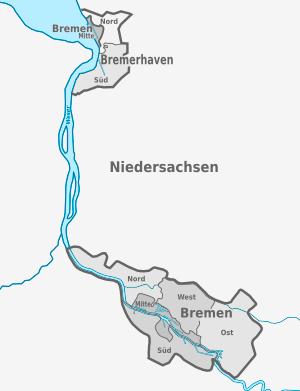 Karte von Freie Hansestadt Bremen