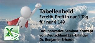 Tabellenheld.de: Excel-Profi in 1 Tag