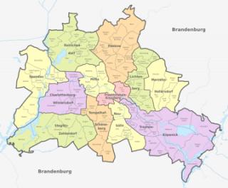 Karte von Berlin (Landkreis)