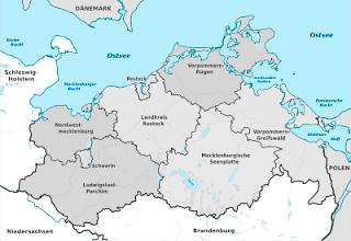 Karte von Mecklenburg-Vorpommern