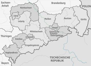 Karte von Sachsen