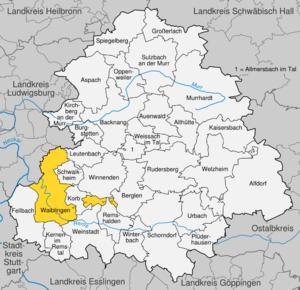 Karte von Waiblingen