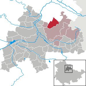 Karte von Beichlingen