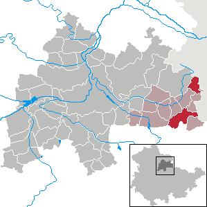 Karte von Buttstädt
