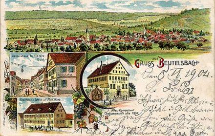 Bild von Weinstadt: Beutelsbach um 1904