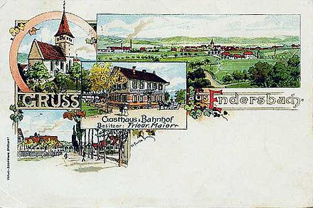 Bild von Weinstadt: Endersbach um 1900