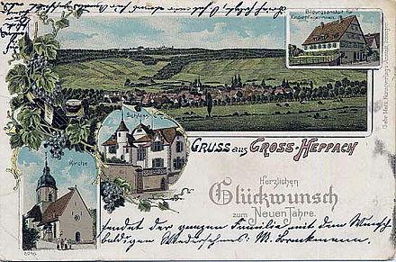 Bild von Weinstadt: Großheppach 1900