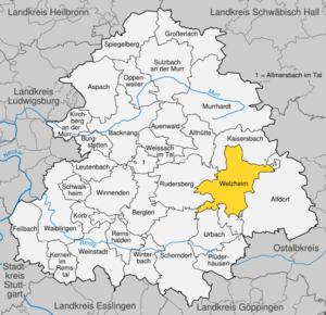 Karte von Welzheim