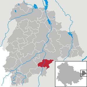 Karte von Gößnitz (Thüringen)