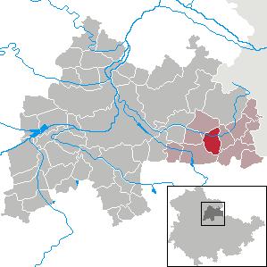 Karte von Guthmannshausen