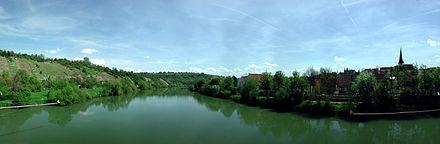 Bild von Benningen am Neckar: Blick von der Neckarbrücke bei Benningen (Neckar)