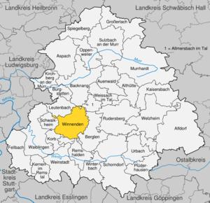 Karte von Winnenden
