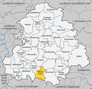 Karte von Winterbach (Remstal)
