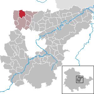 Karte von Neumark (bei Weimar)