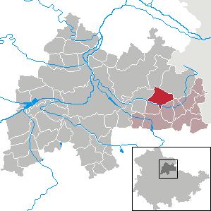 Karte von Olbersleben