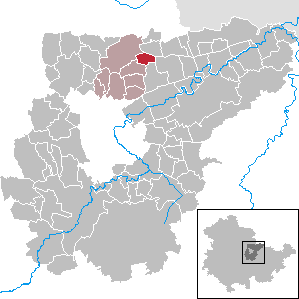 Karte von Rohrbach (Weimarer Land)