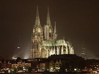 Bild von Nordrhein-Westfalen: Der Kölner Dom ist das größte Kirchengebäude und die größte Touristenattraktion