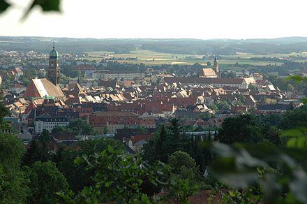 Bild von Amberg: Amberg – Blick vom Maria-Hilf-Berg auf die Altstadt