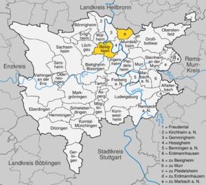 Karte von Besigheim