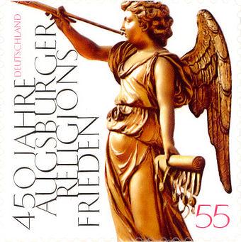 Bild von Augsburg: Sondermarke zum Gedenken an 450 Jahre Augsburger Religionsfriede