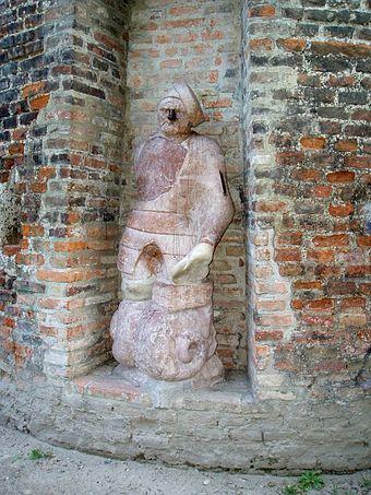 """Bild von Augsburg: Der """"Stoinerne Ma"""" an der östlichen Stadtmauer"""
