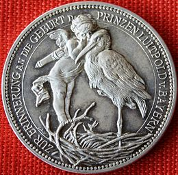Bild von Bamberg: Medaille zur Geburt des Prinzen Luitpold von Bayern, Vorderseite