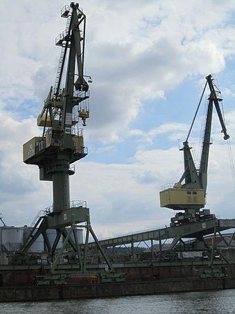 Bild von Bamberg: Kräne im Bamberger Hafen