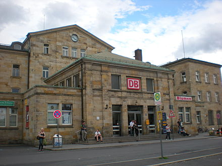 Bild von Bamberg: Empfangsgebäude des Bamberger Bahnhofs