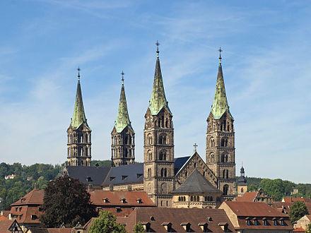 Bild von Bamberg: Bamberger Dom vom Geyerswörther Schloss gesehen
