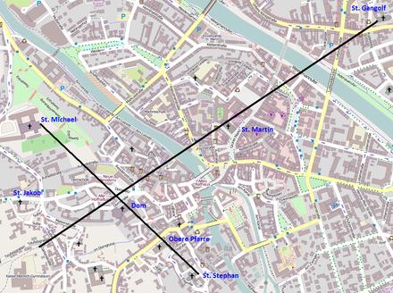 Bild von Bamberg: Das Kreuz über Bamberg auf einer OSM-Karte