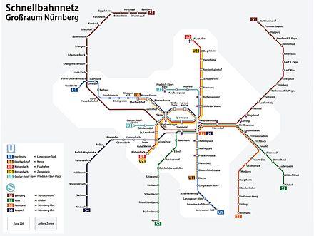 Bild von Bamberg: Bamberg, nördlicher Endbahnhof der S-Bahn-Linie S1 des Verkehrsverbunds Großraum Nürnberg (VGN)