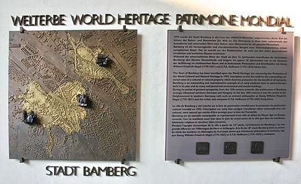 Bild von Bamberg: UNESCO Weltkulturerbeauszeichnung für die Bamberger Altstadt im alten Rathaus