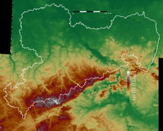 Bild von Sachsen: Topografische Karte von Sachsen