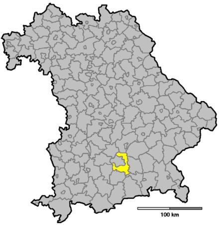 Bild von München (Landkreis): Lage in Bayern