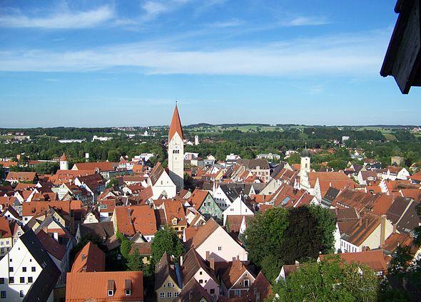 Bild von Kaufbeuren (Landkreis): Die Kaufbeurer Altstadt vom Fünfknopfturm aus