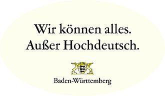 Bild von Baden-Württemberg: Aufkleber einer Werbekampagne des Landes Baden-Württemberg