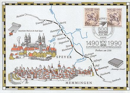 Bild von Memmingen: Der Postkurs am Ende des Mittelalters