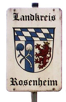 Bild von Rosenheim (Landkreis): Wappen Landkreis Rosenheim.jpg