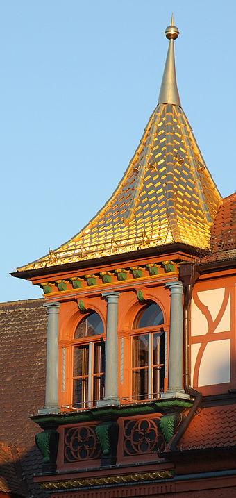 Bild von Schwabach (Landkreis): Golddach auf dem Rathaus