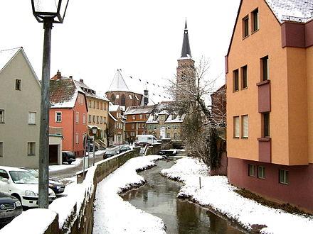 Bild von Schwabach (Landkreis): Schwabach am Ausfluss
