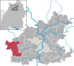 Karte von Eppingen