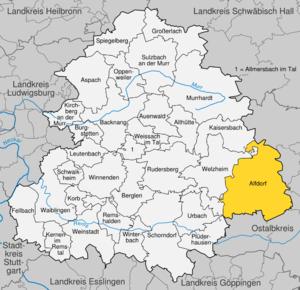 Karte von Alfdorf