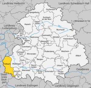 Karte von Fellbach