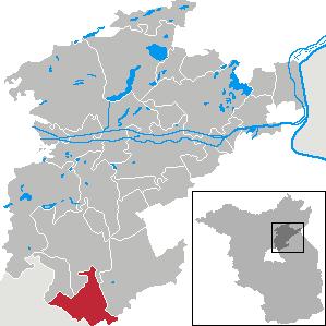 Karte von Ahrensfelde