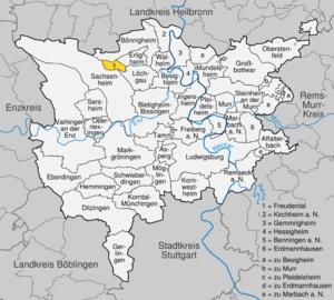 Karte von Freudental