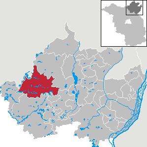 Karte von Boitzenburger Land