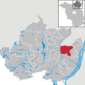 Karte von Casekow