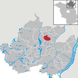 Karte von Grünow (bei Prenzlau)
