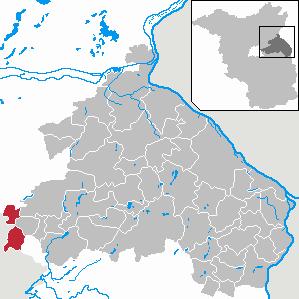 Karte von Hoppegarten