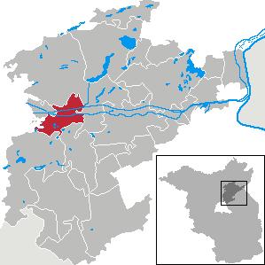 Karte von Marienwerder (Barnim)